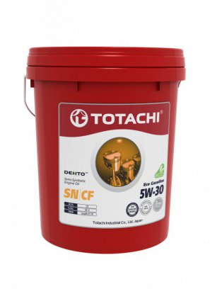 TOTACHI DENTO  Eco Gasoline Semi-Synthetic API SN/CF 5W-30 масло моторное полусинтетическое, 18л