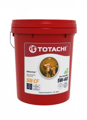 TOTACHI DENTO  Eco Gasoline Semi-Synthetic API SN/CF 5W-40 масло моторное полусинтетическое,  18л
