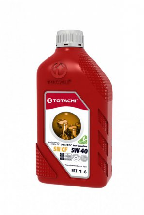 TOTACHI DENTO  Eco Gasoline Semi-Synthetic API SN/CF 5W-40 масло моторное полусинтетическое,  1л