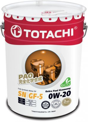 TOTACHI Extra Fuel Fully Synthetic  SN 0W-20 масло моторное синтетическое,    20л