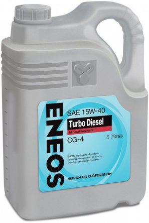 ENEOS Turbo Diesel Mineral Engine Oil CG-4 15W-40 масло моторное минеральное, 6л