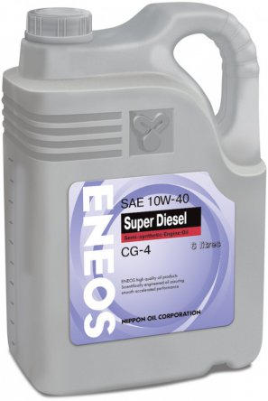ENEOS Super Diesel Semi-synthetic Engine Oil CG-4 10W-40 масло моторное полусинтетическое, 6л