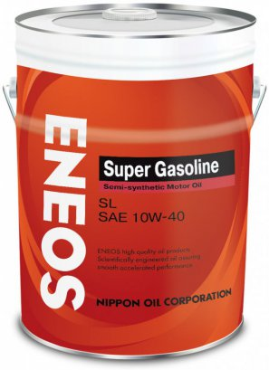 ENEOS Super Gasoline Semi-synthetic Motor Oil SL 10W-40 масло моторное полусинтетическое, 20л