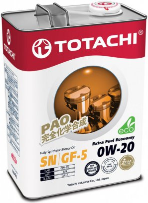 TOTACHI Extra Fuel Fully Synthetic  SN 0W-20 масло моторное синтетическое,    4л