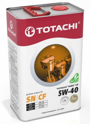 TOTACHI NIRO™ LV SYNTHETIC 5W-40 SN/CF синтетическое моторное масло, 4л