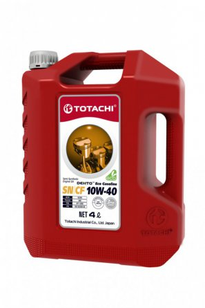 TOTACHI DENTO  Eco Gasoline Semi-Synthetic API SN/CF 10W-40 масло моторное полусинтетическое, 4л