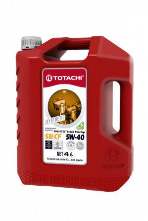 TOTACHI DENTO Grand Touring Synthetic API SN/CF 5W-40 масло моторное синтетическое, 4л