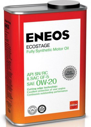 ENEOS Ecostage Fully Synthetic Motor Oil SN  0W-20 масло моторное синтетическое, 0,94л