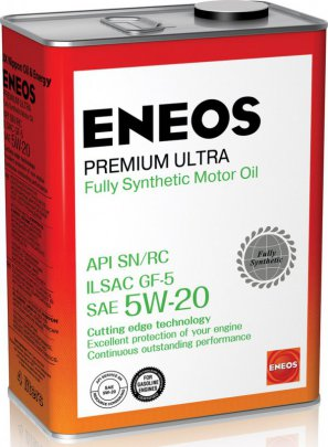 ENEOS Premium Ultra Fully Synthetic Motor Oil SN 5W-20 масло моторное синтетическое, 4л