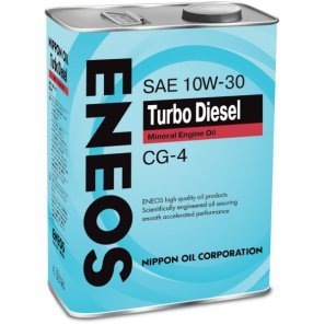 ENEOS Turbo Diesel Mineral Engine Oil CG-4 10W-30 масло моторное минеральное, 4л