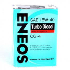 ENEOS Turbo Diesel Mineral Engine Oil CG-4 15W-40 масло моторное минеральное, 0,94л