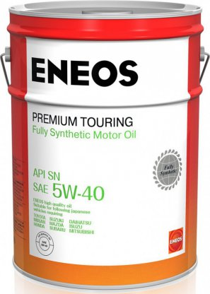 ENEOS Premium Touring Fully Synthetic Motor Oil SN 5W-40 масло моторное синтетическое, 20л