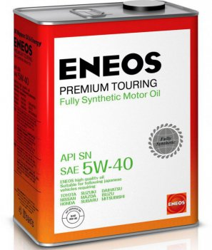 ENEOS Premium Touring Fully Synthetic Motor Oil SN 5W-40 масло моторное синтетическое, 4л