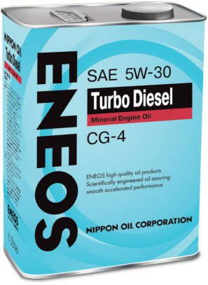 ENEOS Turbo Diesel Mineral Engine Oil CG-4 5W-30 масло моторное минеральное, 4л