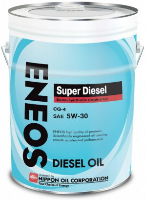 ENEOS Super Diesel Semi-synthetic Engine Oil CG-4 5W-30 масло моторное полусинтетическое, 20л