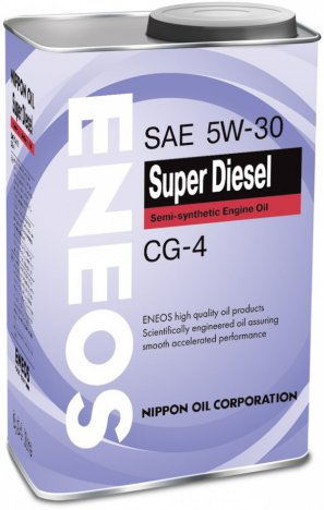 ENEOS Super Diesel Semi-synthetic Engine Oil CG-4 5W-30 масло моторное полусинтетическое, 0,94л