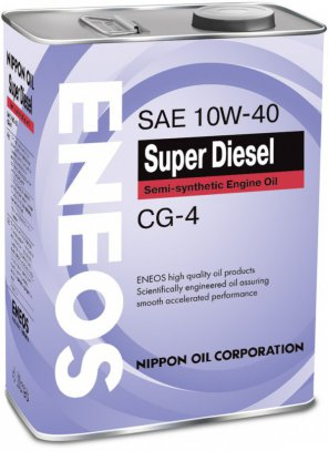 ENEOS Super Diesel Semi-synthetic Engine Oil CG-4 10W-40 масло моторное полусинтетическое, 4л