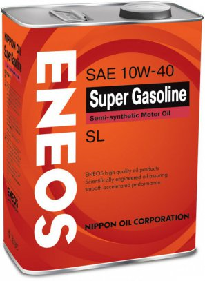ENEOS Super Gasoline Semi-synthetic Motor Oil SL 10W-40 масло моторное полусинтетическое, 4л