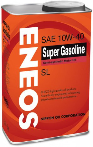 ENEOS Super Gasoline Semi-synthetic Motor Oil SL 10W-40 масло моторное полусинтетическое, 0,94л