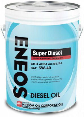 ENEOS Super Diesel 100% Synthetic Engine Oil CH-4 5W-40 масло моторное синтетическое, 20л
