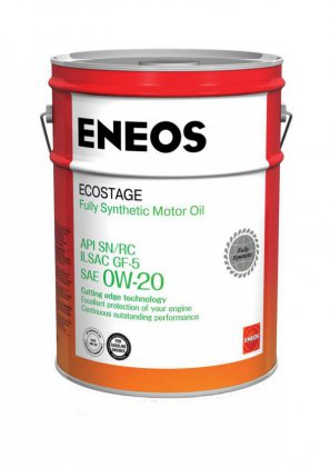 ENEOS Ecostage Fully Synthetic Motor Oil SN  0W-20 масло моторное синтетическое, 20л