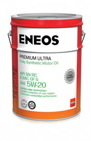 ENEOS Premium Ultra Fully Synthetic Motor Oil SN 5W-20 масло моторное синтетическое, 20л