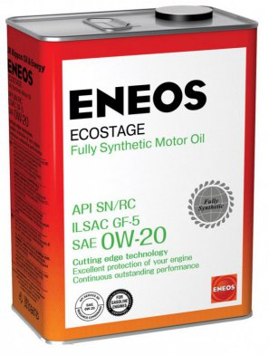 ENEOS Ecostage Fully Synthetic Motor Oil SN  0W-20 масло моторное синтетическое, 4л