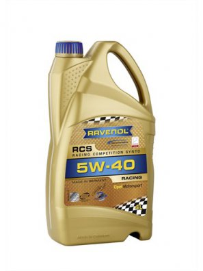 RAVENOL RCS Racing Competition Synto SAE 5W-40 синтетическое моторное масло, 4л